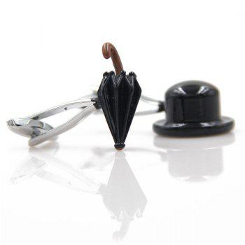 Jazz Hat And Umbrella Cufflinks -  BLACK