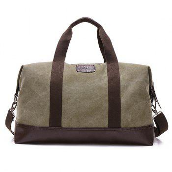 Canvas PU Leather Panel Weekend Bag - ARMY GREEN ARMY GREEN