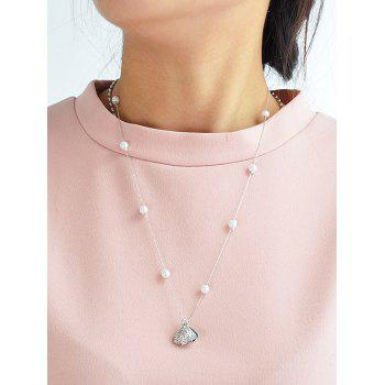 Rhinestone Artificial Pearl Conch Necklace