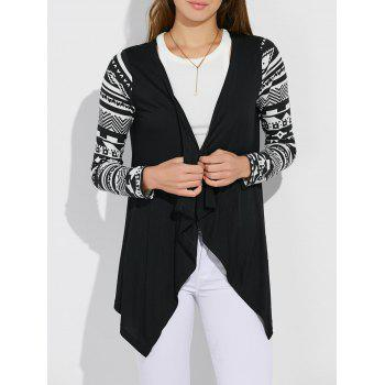 Open Front Asymmetric Cardigan