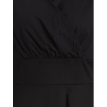 Ruched Surplice Flare Dress - 2XL 2XL