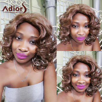 Adiors Short Fluffy Layered Highlight Curly Synthetic Wig