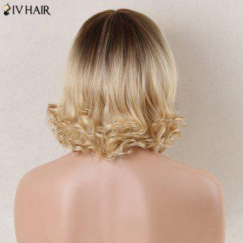 Siv Hair Short Side Bang Prevailing Curly Human Hair Wig - COLORMIX