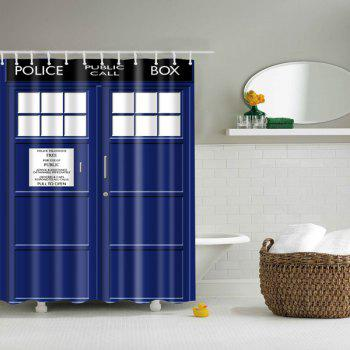 Police Box Bathroom Mildewproof Waterproof Shower Curtain