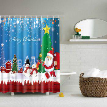 Merry Christmas Bathroom Mildewproof Waterproof Shower Curtain