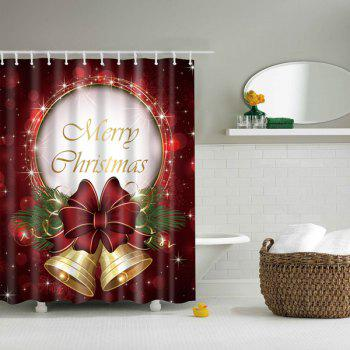 Christmas Bell Bathroom Mildewproof Waterproof Shower Curtain