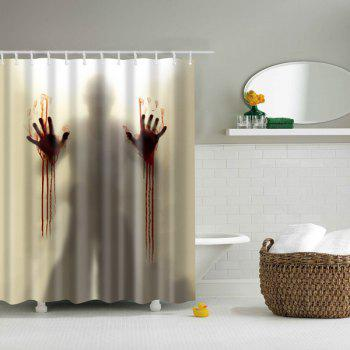 Scarry Shadow Bathroom Mildewproof Waterproof Shower Curtain