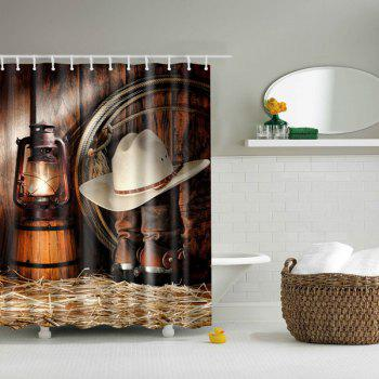 Vintage  Bathroom Mildewproof Waterproof Shower Curtain