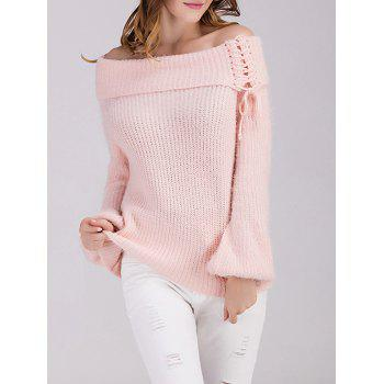 Off The Shoulder Puff Sleeve Sweater