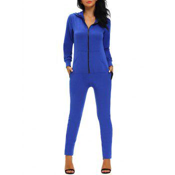 Hooded Zipper Jumpsuit