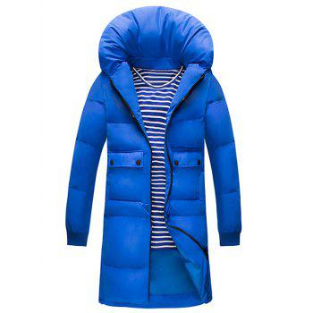 Pillow Collar Zip Up Pocket Puffer Overcoat