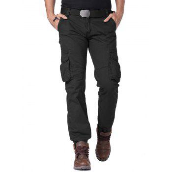 Straight Leg Cargo Pants with Multi Flap Pockets
