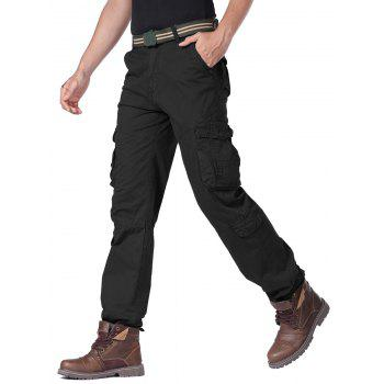 Multi Flap Pockets Cargo Pants with Drawstring Cuff