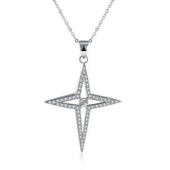 North Star S925 Diamond Pendant Necklace