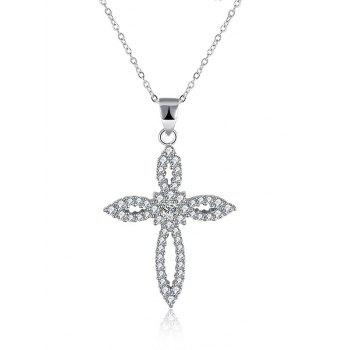 Flower Crucifix S925 Diamond Pendant Necklace