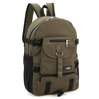 Pockets Colour Splicing Eyelets Backpack