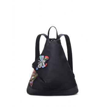 Butterfly Pattern Magnetic Closure Embroidery Backpack
