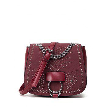 Metal Covered Closure Chain Crossbody Bag