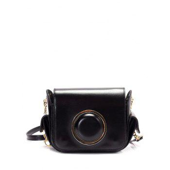 Camera Shape Chain Metal Ring Crossbody Bag