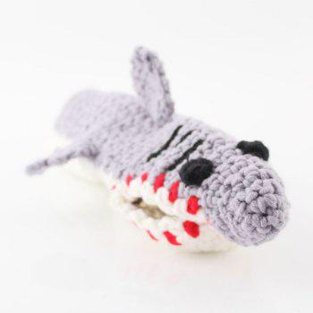 Knitted Shark Slipper Socks -  LIGHT GRAY