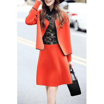Open Front Jacket with Mini Skirt