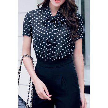 Bow Tie Polka Dot Blouse