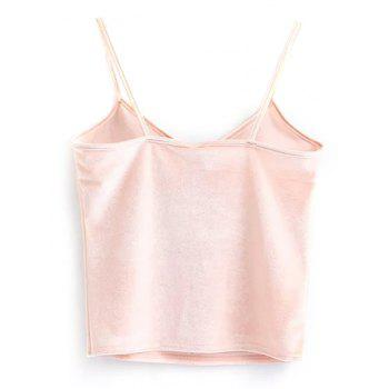 Velvet Cami Cropped Tank Top - ONE SIZE ONE SIZE