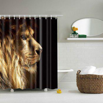3D Lion Pattern Bathroom Waterproof Shower Curtain