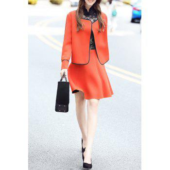 Open Front Jacket with Mini Skirt - JACINTH 3XL