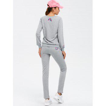 Paris Sweatshirt With Track Leggings - GRAY 3XL