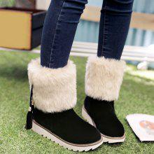 Faux Fur Flock Tassels Snow Boots