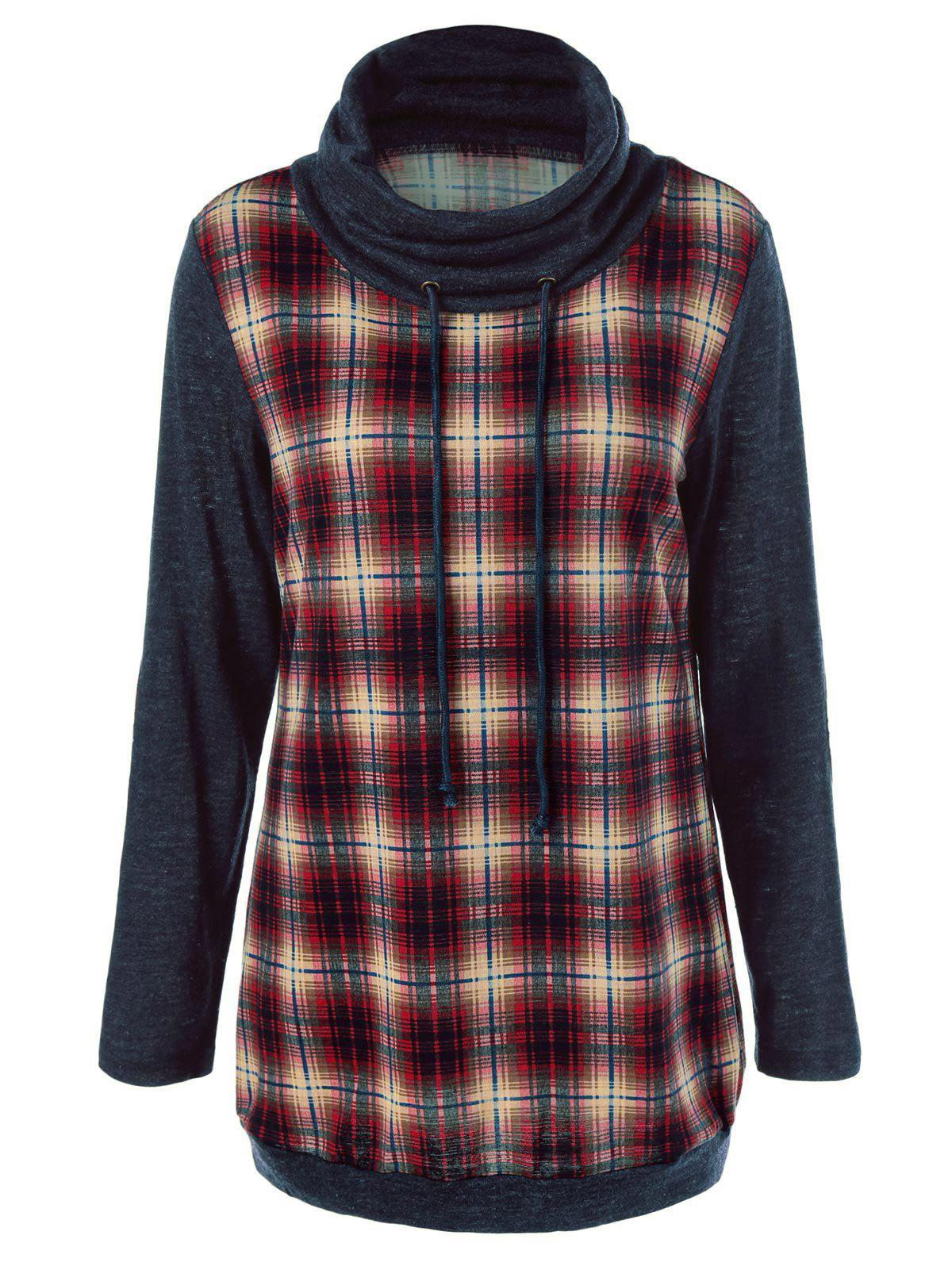 plaid trim elbow patch sweatshirt checked l in. Black Bedroom Furniture Sets. Home Design Ideas