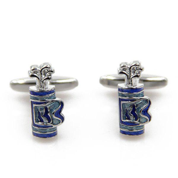 Concise Golf Bag Shape Cufflinks - ROYAL BLUE
