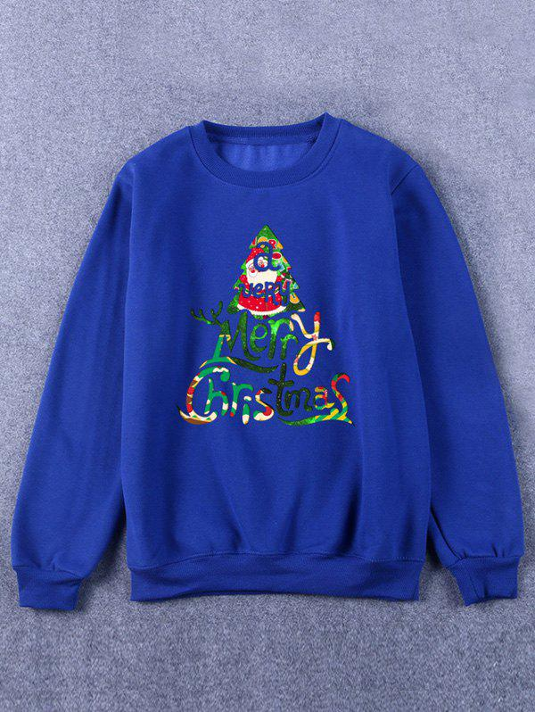 Crew Neck Printed Christmas Sweatshirt christmas elk printed crew neck sweatshirt