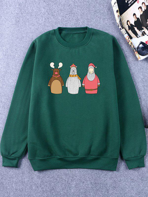 Crew Neck Flocking Funny Christmas Sweatshirt crew neck funny christmas sweatshirt