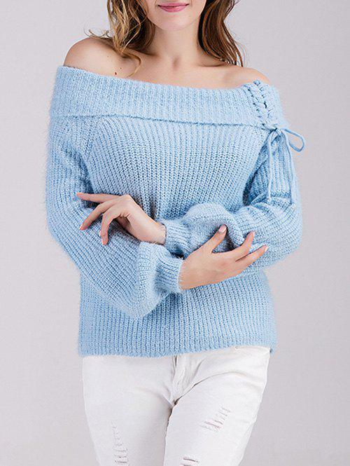 Off The Shoulder Puff Sleeve Sweater skull off the shoulder tunic sweater