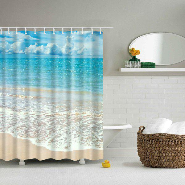 Beach Pattern Bathroom Waterproof Shower Curtain, COLORMIX, L in ...