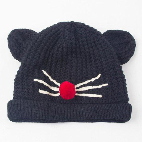 Crocheting Cat Ear Hat - BLACK