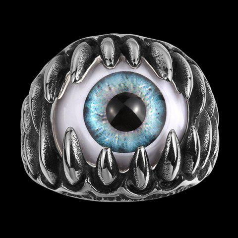 Alloy Tooth Eye Rock Ring - SILVER 10