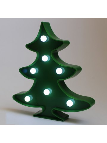 christmas tree shape led night light wall home decor