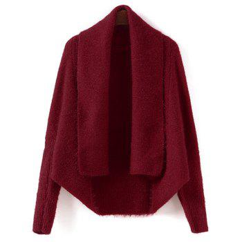 Buy Batwing Sleeve Convertible Cape Cardigan RED