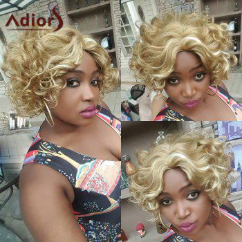 Adiors Hair Mixed Color Side Parting Short Curly Synthetic Wig