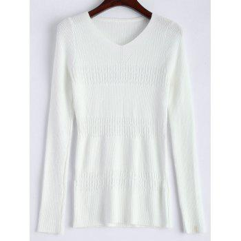 Slim  Fit V Neck Knitted Sweater