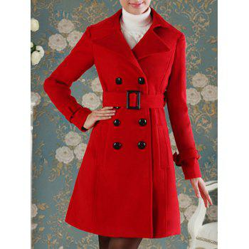 Double Breasted Slimming Fit Wool Coat