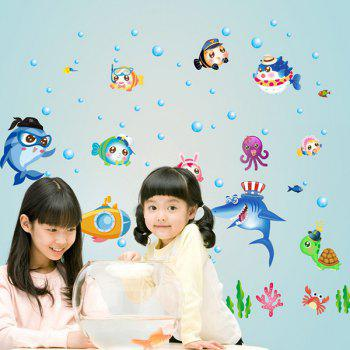 Sea World Removable Baby Room Decor Wall Stickers