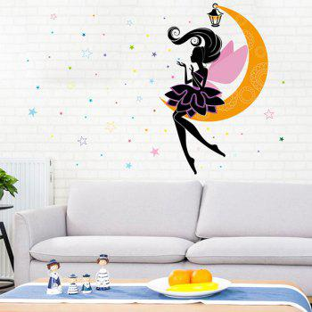 Moon Fairy Removable Baby Room Decor Wall Stickers
