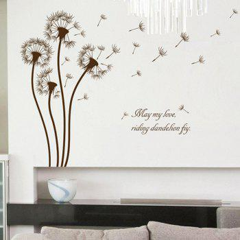 Dandelion Pattern Removable Living Room Decor Wall Stickers