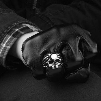 Stainless Steel Claw Devil Skull Ring - SILVER 10