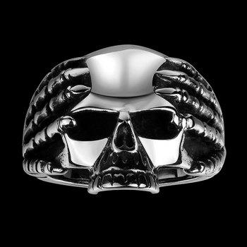 Stainless Steel Claw Devil Skull Ring