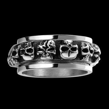 Punk Skulls Alloy CaveMan Ring